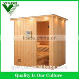 Factory discount price Finland spruce wooden one person portable steam sauna room with JM sauna heater