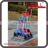 Foldable two wheel Aluminium shopping trolley cart, folding luggage cart
