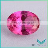 2015 HOT sale produces loose cz stone 4# oval shape synthetic ruby corundum price per carat