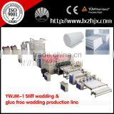 Glue free wadding production line