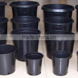 1 -20 gallon black plastic flower pot , tree plant pot,nursery pots plastic