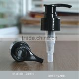 Black plastic lotion pump for hand soap 302B 24/410