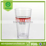pint beer glass with logo custom