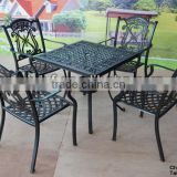 swimming pool table and chair/chairs terrace/terrace furniture bronze cast aluminum dining set