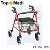Rehabilitation Therapy Supplies Topmedi TWA965LH home used and outdoor aluminum walking aid with seat