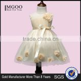 MGOO Flower Baby Girl Dress Wedding Dress For Little Child Shiny Sequins Satin Tulle Champagne Kids Girls Party Dresses