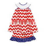 Lovely chevron smocked short set for baby girls on Independent day smocked baby clothes set