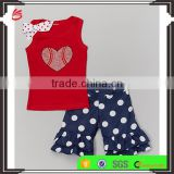 Wholesale in China baby girls Tank & Ruffle Shorts Set new model kids beautiful clothes
