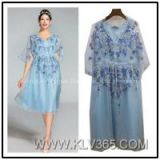 High Quality Designer Clothes Women Lady Embroidered Party Dress