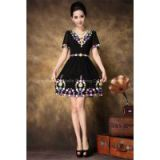Heavy embroidery craft, new fashion, skillful and elegant design, goddess must-have item, ultra-pure brilliant colors!