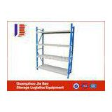 Blue Adjustable Plain Metal Long Span Light Duty Racking System For Workshop