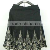 Skirt Very Beautiful designs skirt Black & white embroidered New designs skirts women fashion long skirts