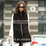 China factory wholesale knitted real mink fur scarf for women