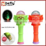 Colorful plastic flash light wand sweet candy toy 2017