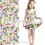 100% polyester lycra elastane swimwear digital fabric for kids