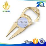 Top Selling Golf Divot Repair Tool with Bottle Opener in Gold Plating