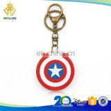 Popular America Shield Hard PVC Keychain