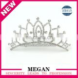 Wedding Bridal Clear Rhinestones Crystal Silver Prom Hair Comb Rhinestone Hair Bling bridal Crown tiara