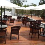 Customized Rattan Table Chairs Hotel Rattan Garden Set