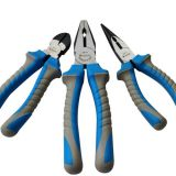 High Quality Germany Type Industrial Carbon Steel  Long Nose Pliers with Plastic Handle