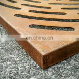 customized street furniture rusted metal corten steel tree grating