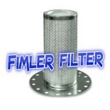 Vickers Filter OF31210, OF3123RV10 VMC Filters AS525212 Vanair Filter 40192 vacuum pumps PFS160