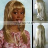 blond brown synthetic silk straight full lace wig