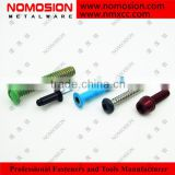 Hex flange colorful baking finished self drilling screw from Nomosion