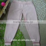 OEM service cotton knitted pattern baby warm trousers for autumn