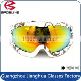 Camo TPU frame anti glare uv 400 protective snowboard goggle custom brands on sale snow glasses