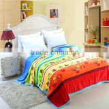 China manufacturer children cartoon bright colour soft moving horse pattern blanket