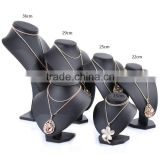 Popular Black PU Faux leather Jewelry Display Stand Bust Pendant Necklace Display S1324