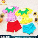 Summer 2016 Cute Baby Girl Swimming Suit Fruit Cartoon Breathable Baby Girl Beachwear New Style Bikini Lovely Girl