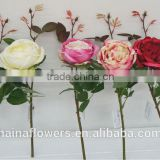 New design China artificial rose flowers wholesale silk flowers artificial with best price