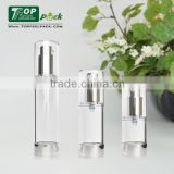 Personal Care Empty Round Aluminum Airless Container Spray Container Aluminum Pump Bottle