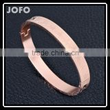 Wholesale Star Carving Pattern Stainless Steel Bracelet Bangle Can Open SMJ0054