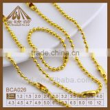 stainless steel bead chain gold filled