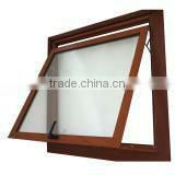 Top Hung Aluminium Window with insect screen wooden transfer color