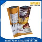 custom printing coffee bag/coffee tea packaging /plastic film roll /aluminium foil zipper stand up pouch with valve
