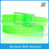 2014 Hot Sale Fashion Colorful Eco-friendly Pyramid Perfume Silicone Belt with Plastic Buckle