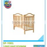 Hot Sale White Wooden Baby Cot Cribs
