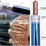 2015 Hige efficiency Three high target tube solar water heater vacuum tube with heat pipe