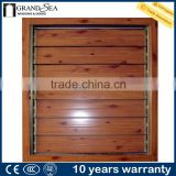 Wooden color adjustable aluminium louver window