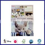 2016 Customized design and high quality calendar /high quality photo wall calendar printing