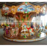 Amusement kids games children 12 seats outdoor carousel for sale