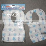 Hot sell disposable high quality cheap paper baby bib ,cotton baby bib