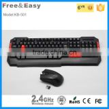 Fasion and beautiful wireless flexible keyboard mouse set