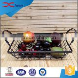 Latest home storage black stainless steel fruit basket with handle                                                                                                         Supplier's Choice