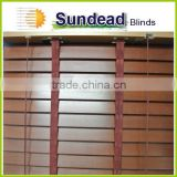 paulownia Basswood 2 inches natural wood Blinds with ladder tape at cheap price with fair quality for window covering