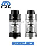 hot new products for 2016 glass crack pipe is out electro life battery Ijoy Tornado RDTA 300watt High atomizer with 5ML Two Post